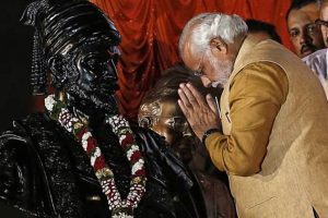 PM Modi 'bows' to Chhatrapati Shivaji on his birth anniversary