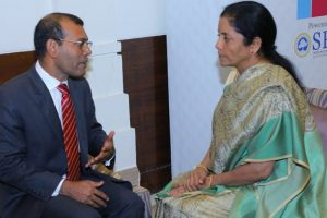 Former Maldives Prez Nasheed meets Sitharaman, briefs her on situation