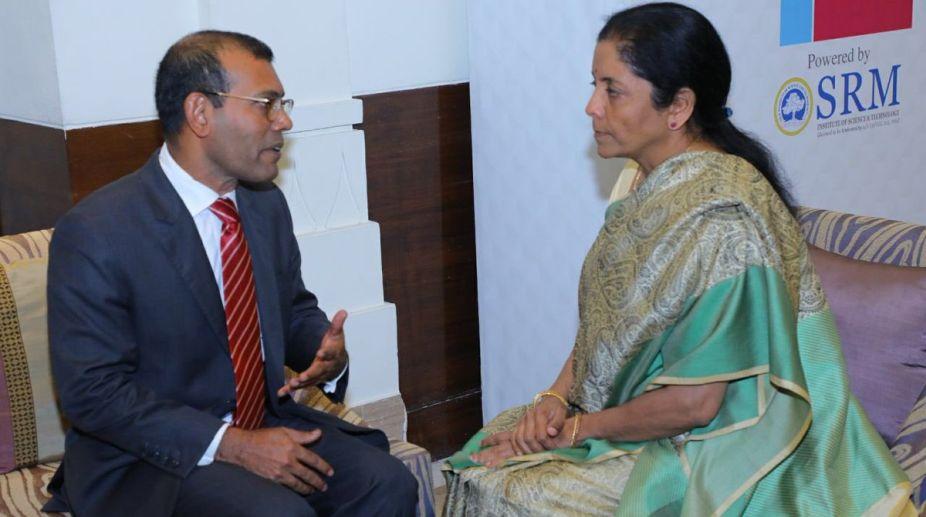 Mohamed Nasheed meets Nirmala Sitharaman