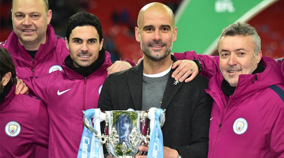 Manchester City F.C., Premier League, Carabao Cup Final, Mikel Arteta, Pep Guadiola, Arsenal vs Manchester City