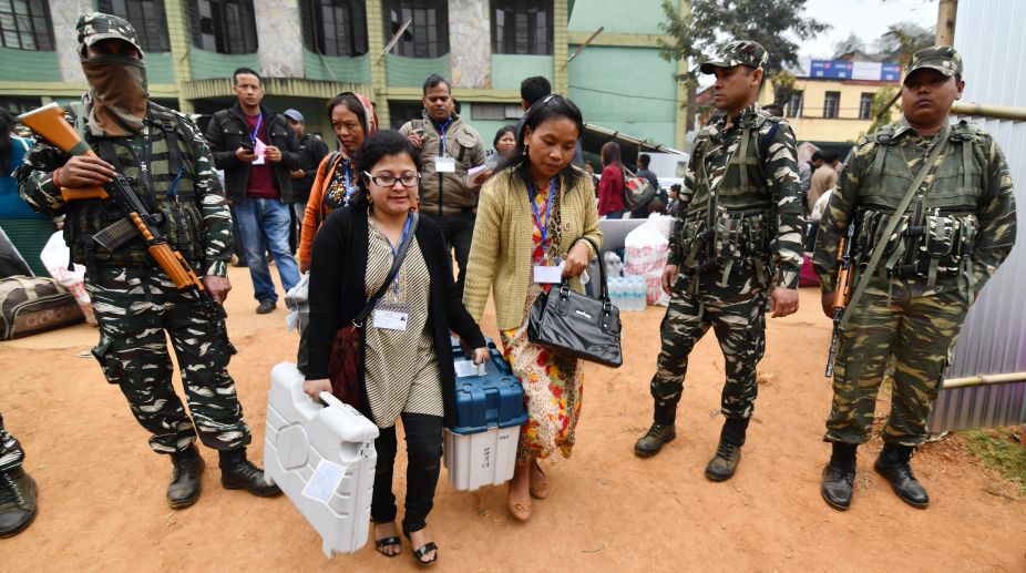 Northeast assembly elections 2018, Nagaland booths, Re-polling, election commission