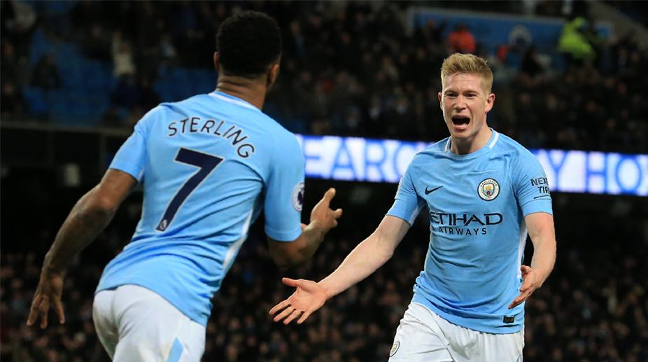 Raheem Sterling, Kevin De Bruyne, Manchester City F.C., Premier League