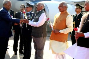 President Kovind arrives on maiden visit to Chandigarh