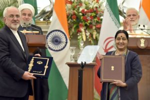 Iranian Foreign Minister to meet Sushma Swaraj on Monday