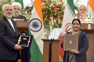 Iranian Foreign Minister to meet Sushma Swarajon Monday