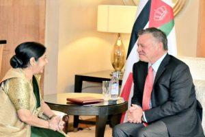 External Affairs Minister Sushma Swaraj calls on King of Jordan