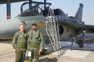 US Air Force Chief flies Tejas over Jodhpur skies