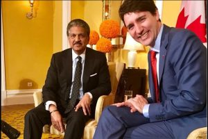 Anand Mahindra meets Justin Trudeau, tweets about 'dismal wardrobe failure'