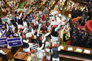 Pandemonium in UP assembly over law, order