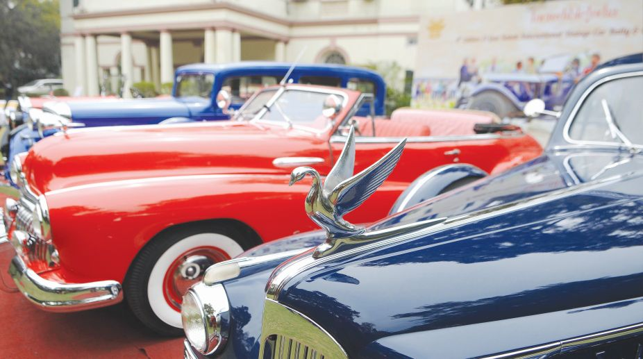 vintage cars media preview for the upcoming 21 Gun Salute International Vintage Car Rally & Concours Show, in the capital on Tuesday (Photo: SNS)