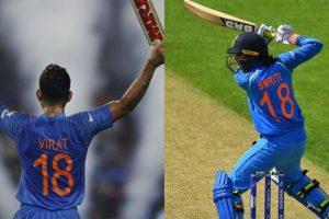 No. 18, the common thing between Smriti Mandhana and Virat Kohli!