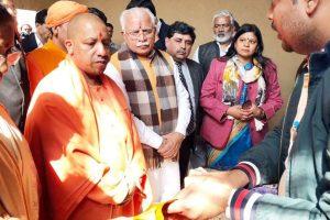 Yogi Adityanath inaugurates Surajkund Mela in Haryana