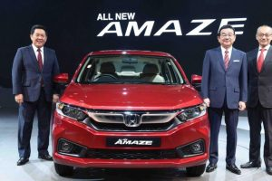 Honda unveils all new Amaze, CR-V and Civic models at Auto Expo 2018