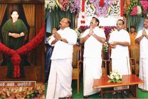 Despite rebuke, Jayalalithaa's portrait unveiled