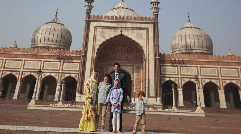 Canadian PM, Justin Trudeau, Jama Masjid