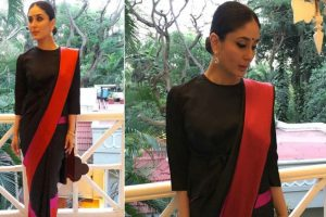 Kareena Kapoor Khan sizzles in classic silk saree at Bengaluru Film Festival