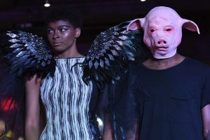 #MeToo Fashion Show in New York: Models walked handcuffed with 'Pig-faced' men