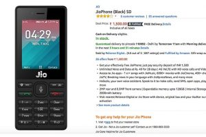 Reliance JioPhone now available on Amazon India for Rs. 1,500