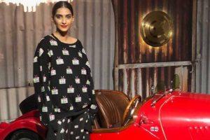 Fashionista Sonam Kapoor shoots at Gauri Khan Designs