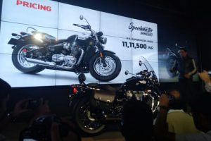 Triumph Bonneville Speedmaster 1200cc cruiser bike launched in India for Rs. 11.11 lakh