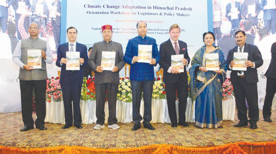 Chief Minister Jai Ram Thakur addressed an orientation workshop on climate change.