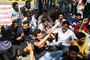 In pics: Students protest at Jantar Mantar against CBSE over paper leak