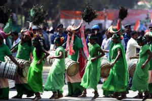 Tribals' 'dance protest' in Delhi for help and identity