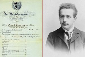 Here is the report card of Albert Einstein which proves he was excellent in mathematics