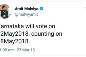 Controversy erupts as BJP IT-cell head Amit Malviya tweets Karnataka polling, result dates before EC
