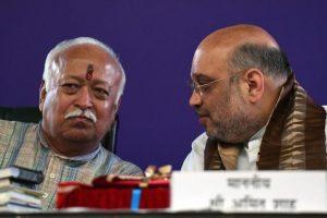 BJP president Amit Shah meets RSS chief Mohan Bhagwat in Nagpur