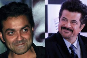 Bromance of Anil Kapoor, Bobby Deol on the sets of 'Race 3'