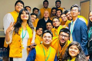 Anupam Kher gives life lessons in Boston's Babson College