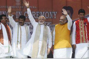 Biplab Kumar Deb sworn-in as first BJP Chief Minister of Tripura