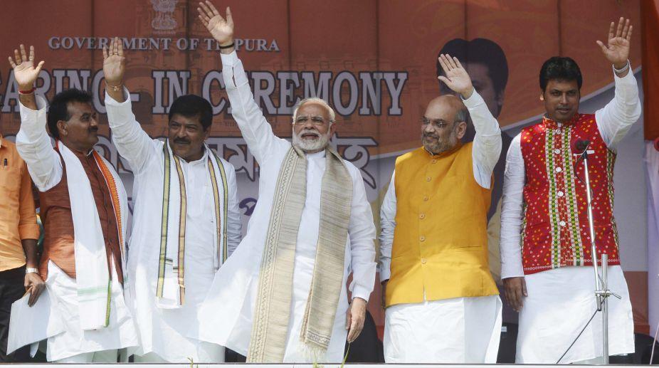 Biplab Deb takes oath as Tripura CM