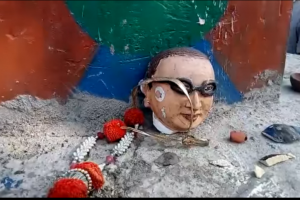 UP: Ambedkar statue vandalised in Ballia
