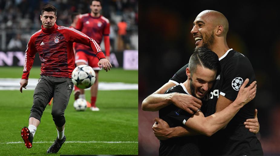 Robert Lewandowski, Steven Nzonzi, Bayern Munich vs Sevilla, F.C. Bayern Munich, UEFA Champions League, Sevilla F.C.