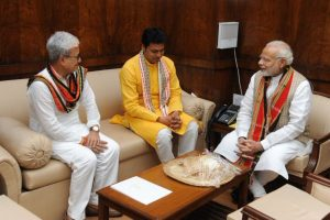 Tripura CM meets PM Modi, seeks special package for state
