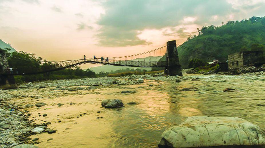 bridge, Maldevta, flood