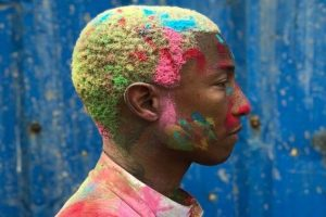 Pharrell Williams celebrates his first Holi in India