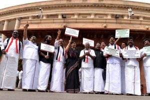 Parliament adjourned as protests continue over Cauvery water issue
