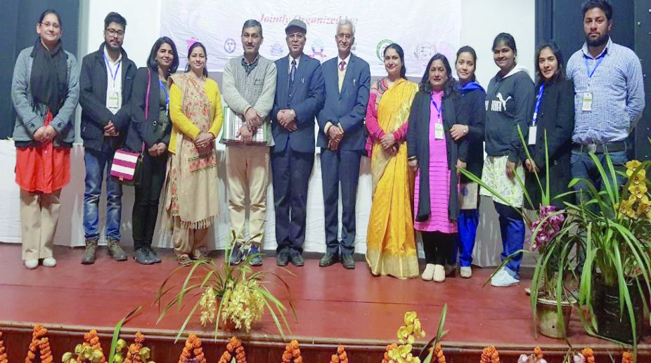Nauni University scientists and students at a national conference held in Sikkim. (Photo: SNS)