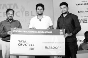 2 CET students win Tata Crucible Campus Quiz 2018 at XIMB with `75,000 cash prize