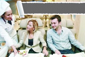 Fine dining experience in the sky