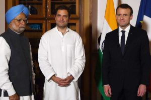Rahul Gandhi discusses fake news, climate change with Macron