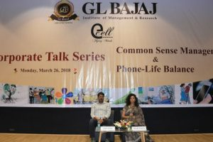 Corporate talk series on 'Common Sense Management and Phone-Life Balance' at GLBIMR
