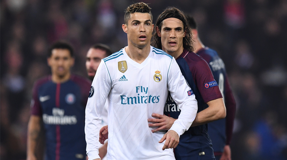 Cristiano Ronaldo, Edinson Cavani, UEFA Champions League, Paris Saint-Germain vs Real Madrid, Real Madrid C.F.