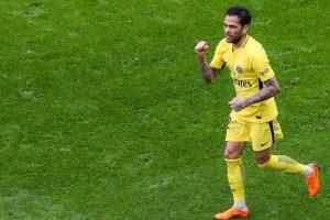 Ligue 1: Dani Alves strikes late as PSG edge Nice 2-1
