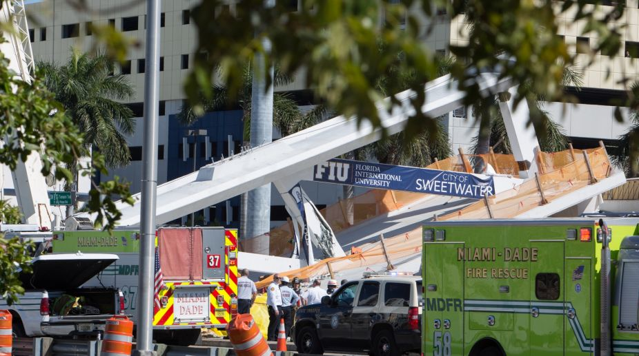 footbridge collapse, Florida university, Florida university footbridge