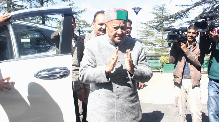 Former Chief Minister Virbhadra Singh during Vidhan Sabha session in Shimla on Tuesday.