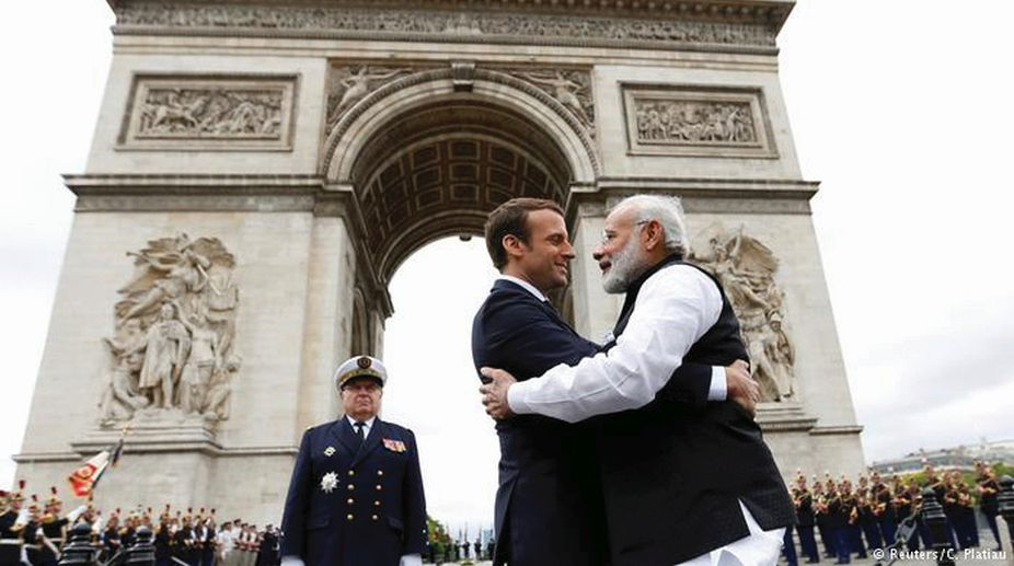 French President Macron In India
